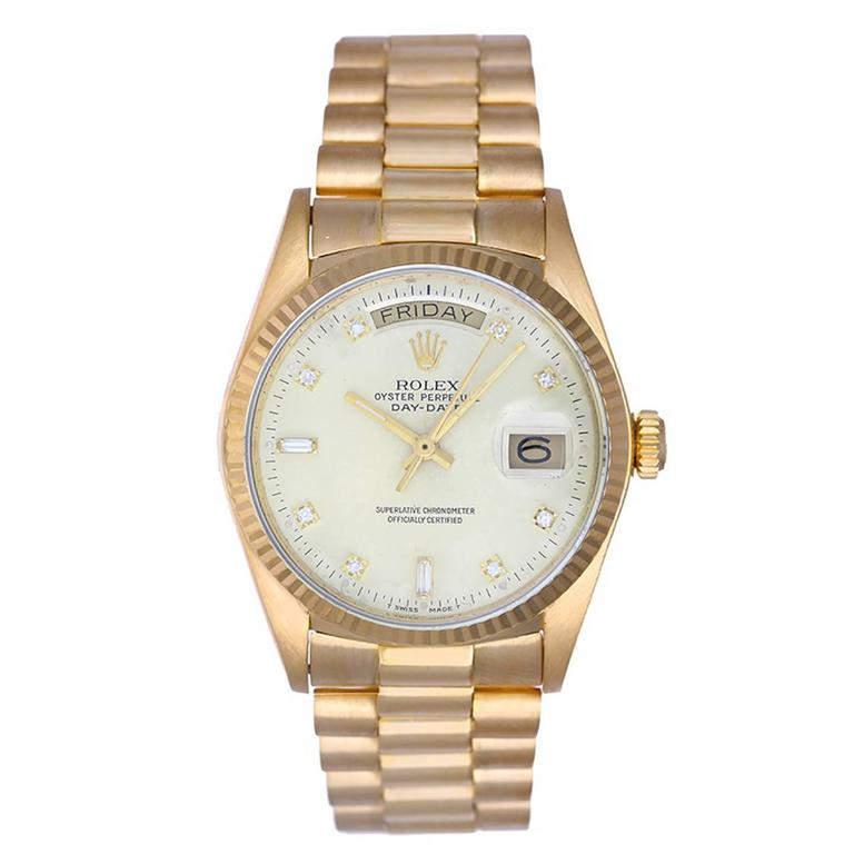 Rolex ladies Yellow Gold President Day-Date Automatic Wristwatch Ref 18038
