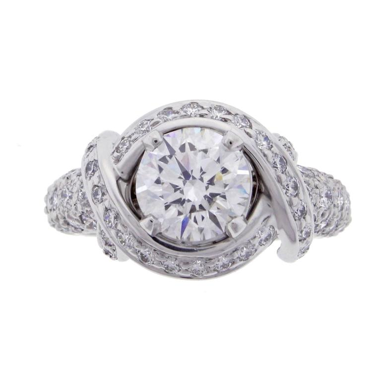 Tiffany And Co Jean Schlumberger Diamond Platinum
