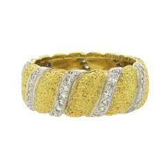 Buccellati Diamond Gold Wedding Band Ring