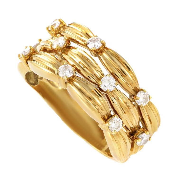 Tiffany & Co. Yellow Gold Diamond Band Ring