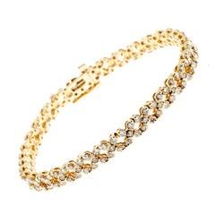 Diamond Gold Hinged Link Bracelet