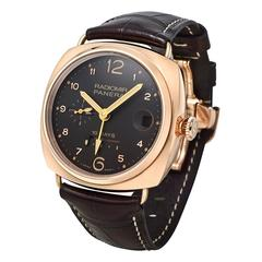 Panerai Radiomir Rose Gold 10-Day GMT Wristwatch Ref PAM00497