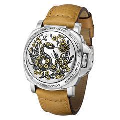Panerai Stainless Steel Luminor Sealand Year of the Snake Wristwatch