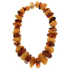Multi-Color Amber Gold Necklace