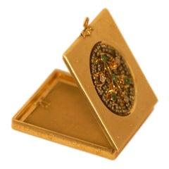 Mario Buccellati emerald diamond gold Beauty Case