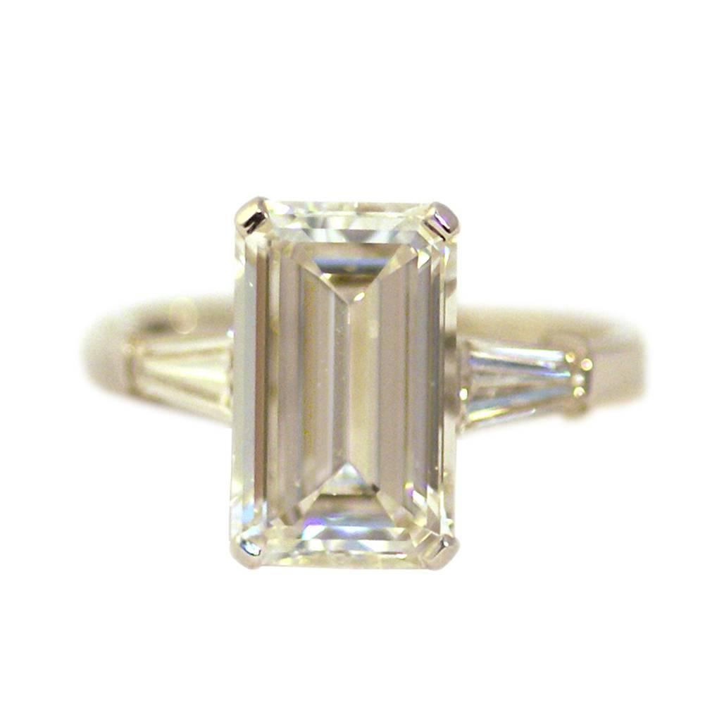 bulgari emerald cut gold ring at 1stdibs