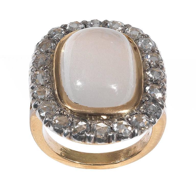 antique moonstone gold cluster ring at 1stdibs