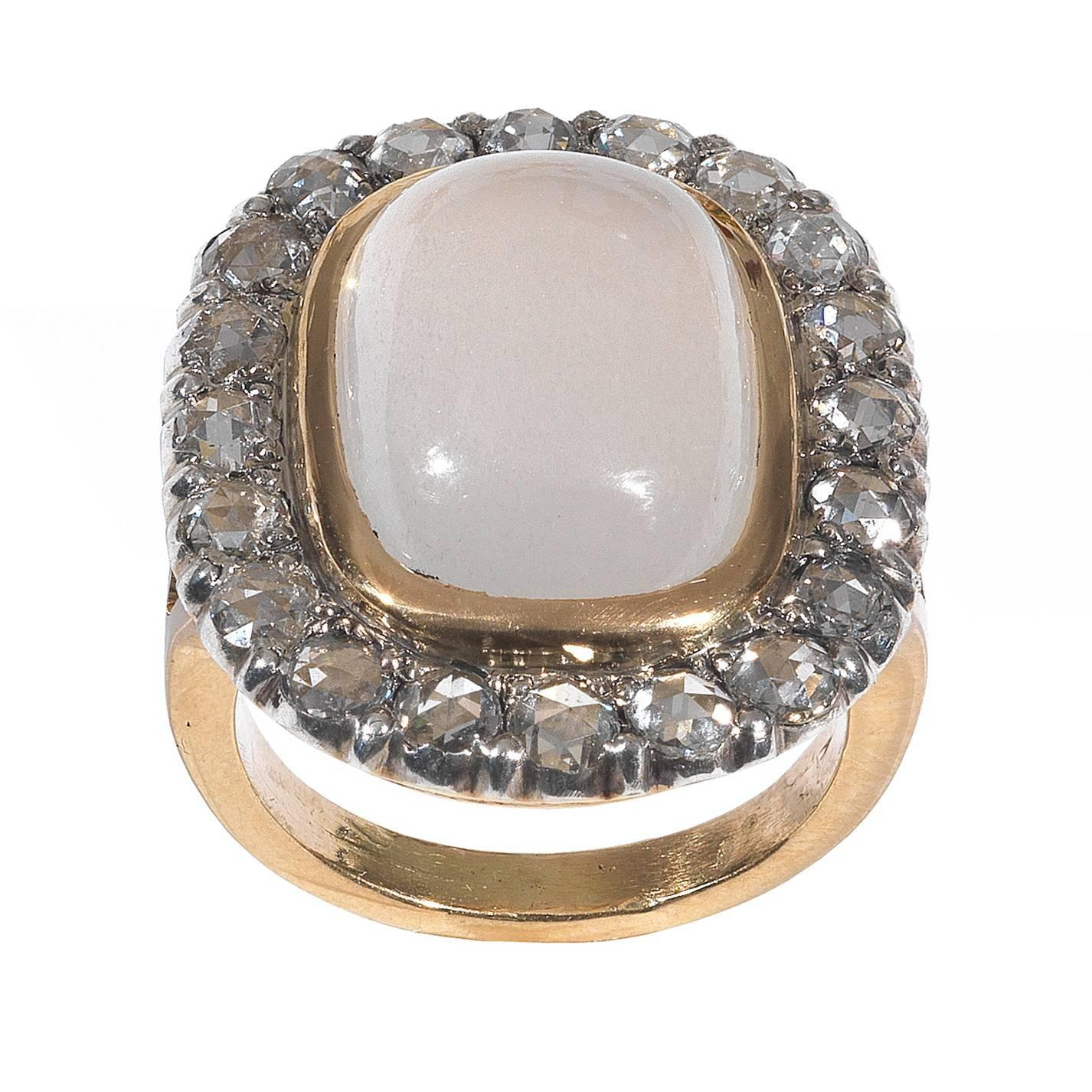 antique moonstone gold cluster ring at 1stdibs