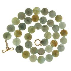 Valentin Magro Green Aquamarine Disk Necklace
