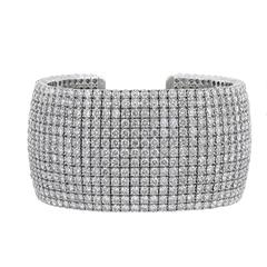 47.30 Carat Diamond 13-Row Cuff Bracelet