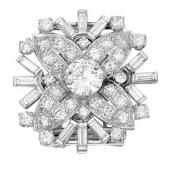 Diamond Snowflake Brooch