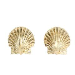 Tiffany & Co. Schlumberger Gold Shell Earrings