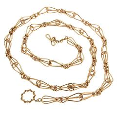 Valentin Magro Unique Shaped Gold Link Chain Necklace