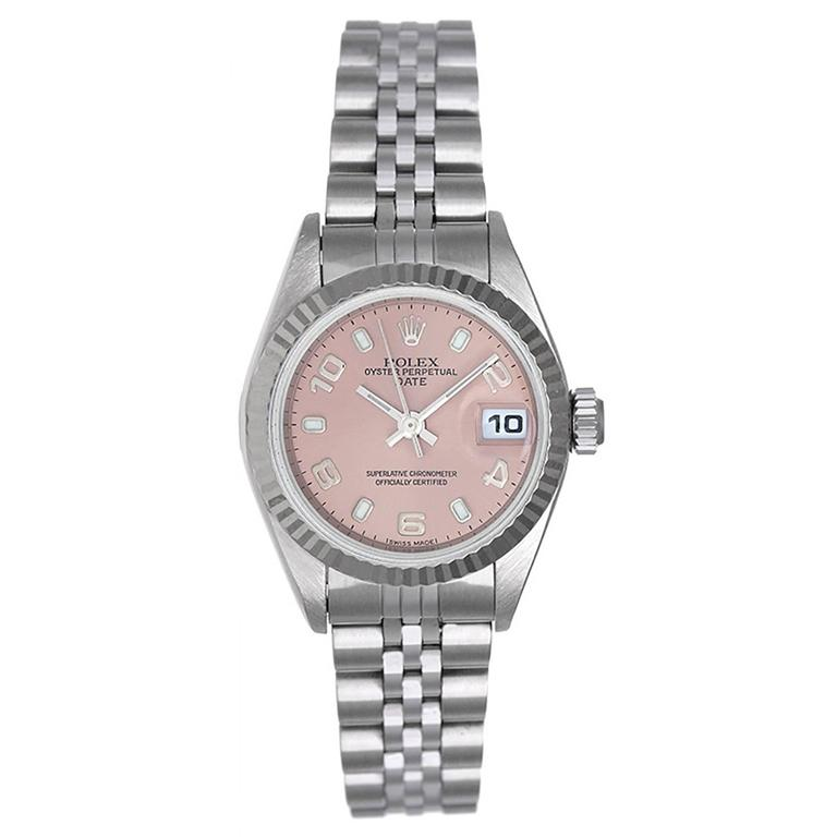 Rolex Lady's Stainless Steel Datejust Automatic Wristwatch Ref 79174