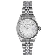 Rolex lady's stainless steel Datejust automatic wristwatch ref 79174