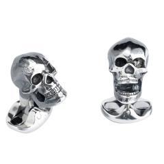 Deakin & Francis Sterling Silver Skull Cufflinks