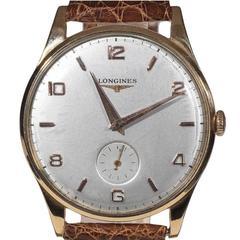 Longines Oversize Rose Gold Manual Wind Wristwatch