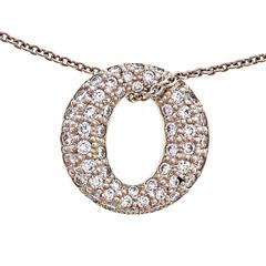 Tiffany & Co. Sevillana Diamond Platinum Pendant Necklace