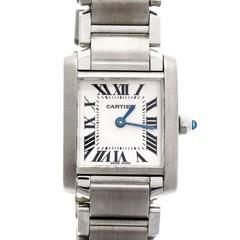 Cartier Stainless Steel Lady's Tank Française Quartz Wristwatch, Ref. 2384