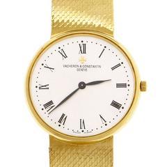 Vacheron Constantin yellow Gold Mesh Band Quartz Wristwatch Ref 70001