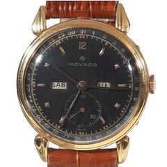 Movado rose Gold Calendograph Triple-Date Calendar Wristwatch Ref 4864