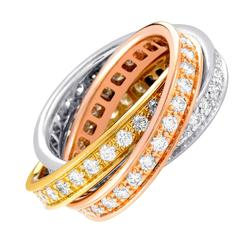 Cartier Trinity de Cartier Diamond Three-Color Gold Ring