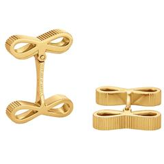 Van Cleef & Arpels Paris Gold Bow Cufflinks
