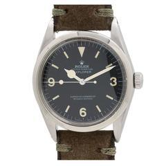 Rolex Stainless Steel Explorer 1 Wristwatch ref 1016 circa 1969