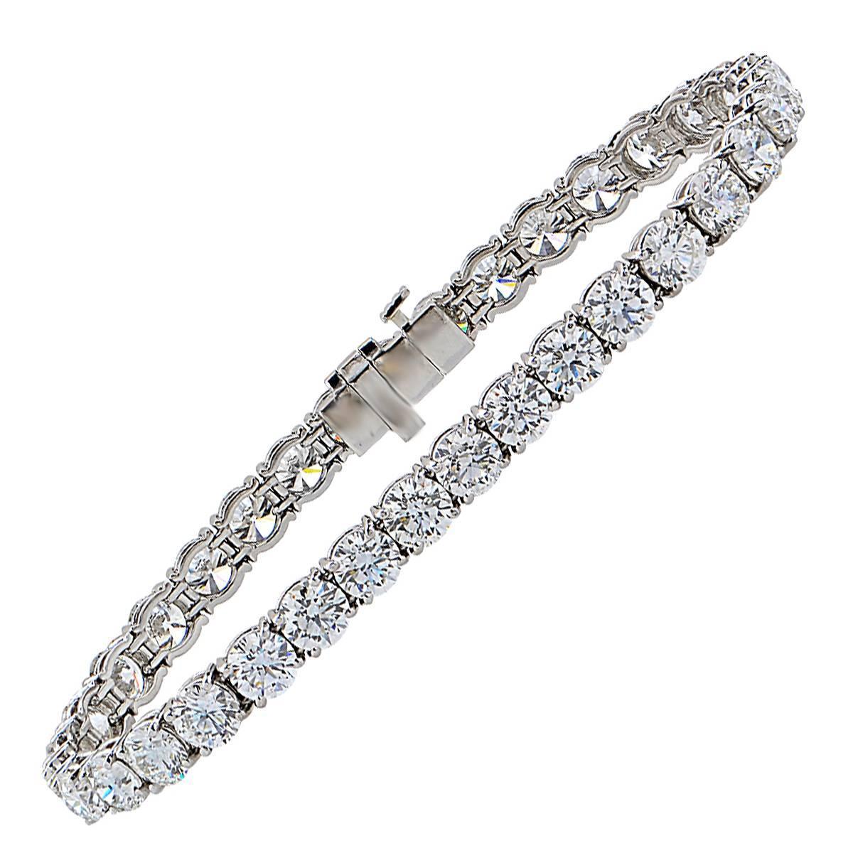Diamond Platinum Tennis Bracelet For Sale At 1stdibs