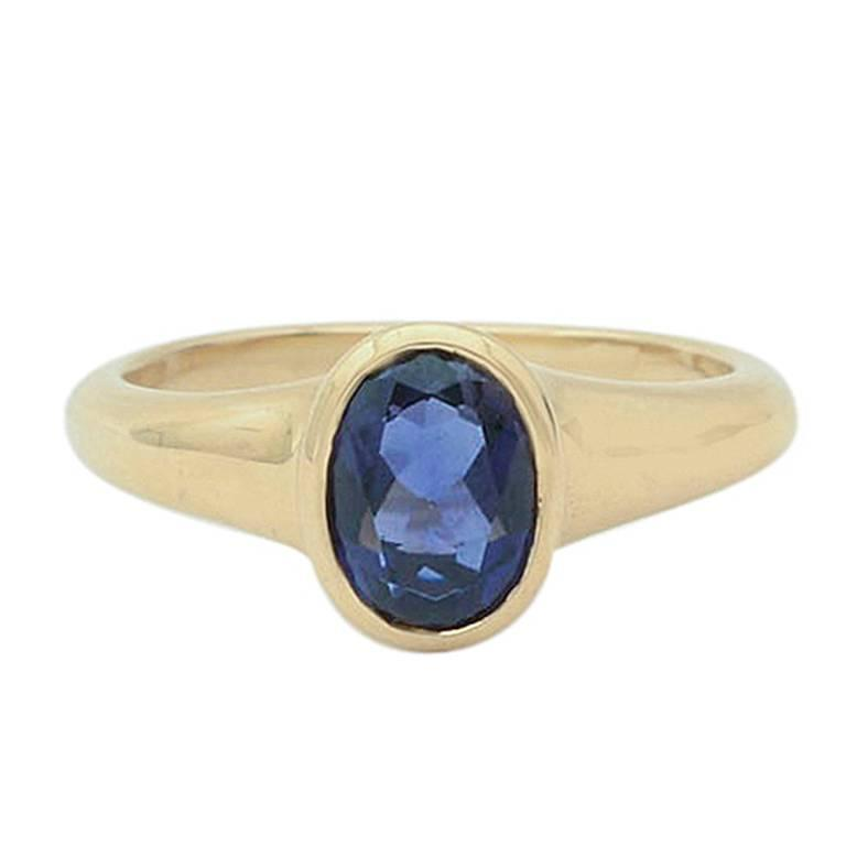 Bulgari Iolite Gold Ring