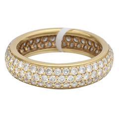 Mémoire Pavé Silk Diamond Gold Bombe Eternity Band Ring