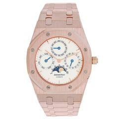 Audemars Piguet Rose Gold Royal Oak Quantieme Perpetual Calendar Wristwatch
