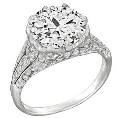 3.10 Carat Diamond Platinum Engagement Ring
