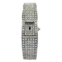 Christopher Designs white gold diamond quartz Wristwatch