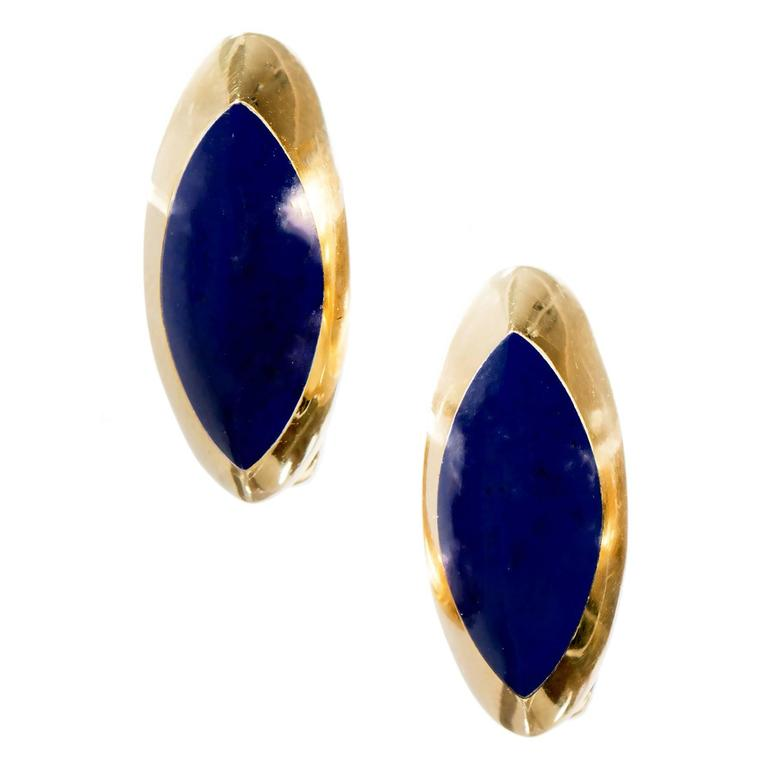 blue lapis gold earrings for sale at 1stdibs