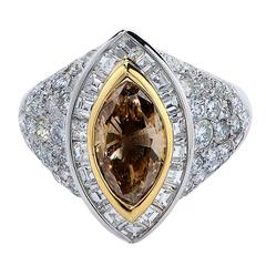 Natural Color Diamond Gold Ring