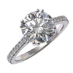 3.02 Carat GIA Cert Diamond Gold Ring