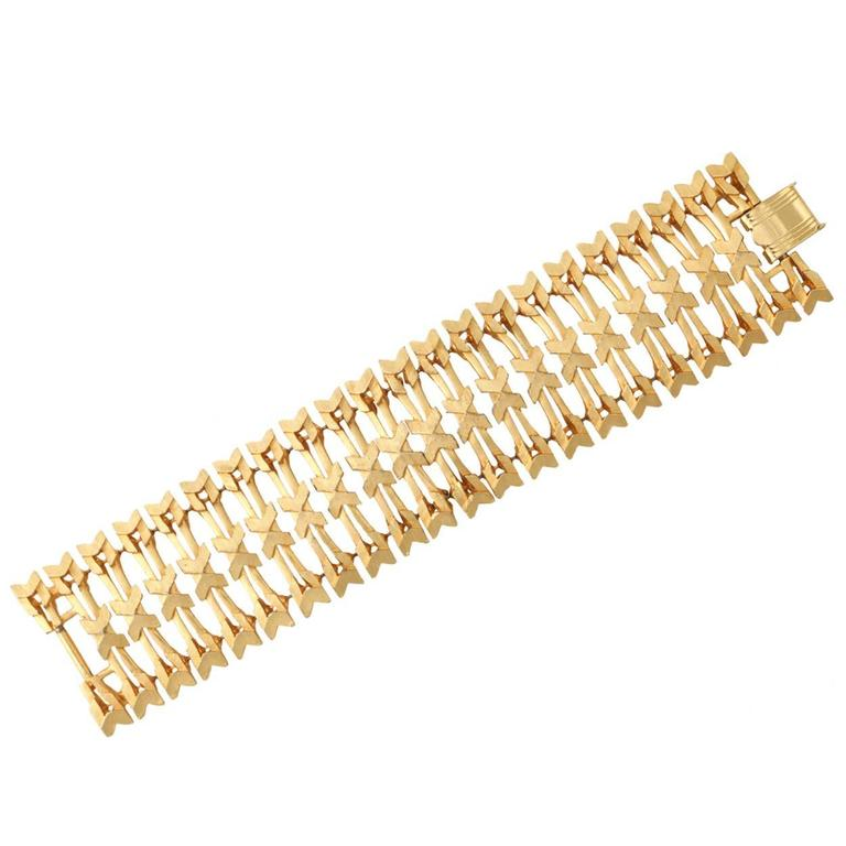 Arrow Design Wide Bracelet