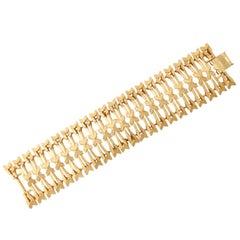 """Arrow Design Wide """"Gold"""" Bracelet, Costume Jewelry"""