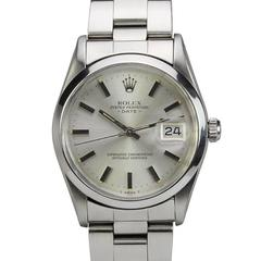 Rolex Stainless Steel Date Automatic Wristwatch Ref 15000