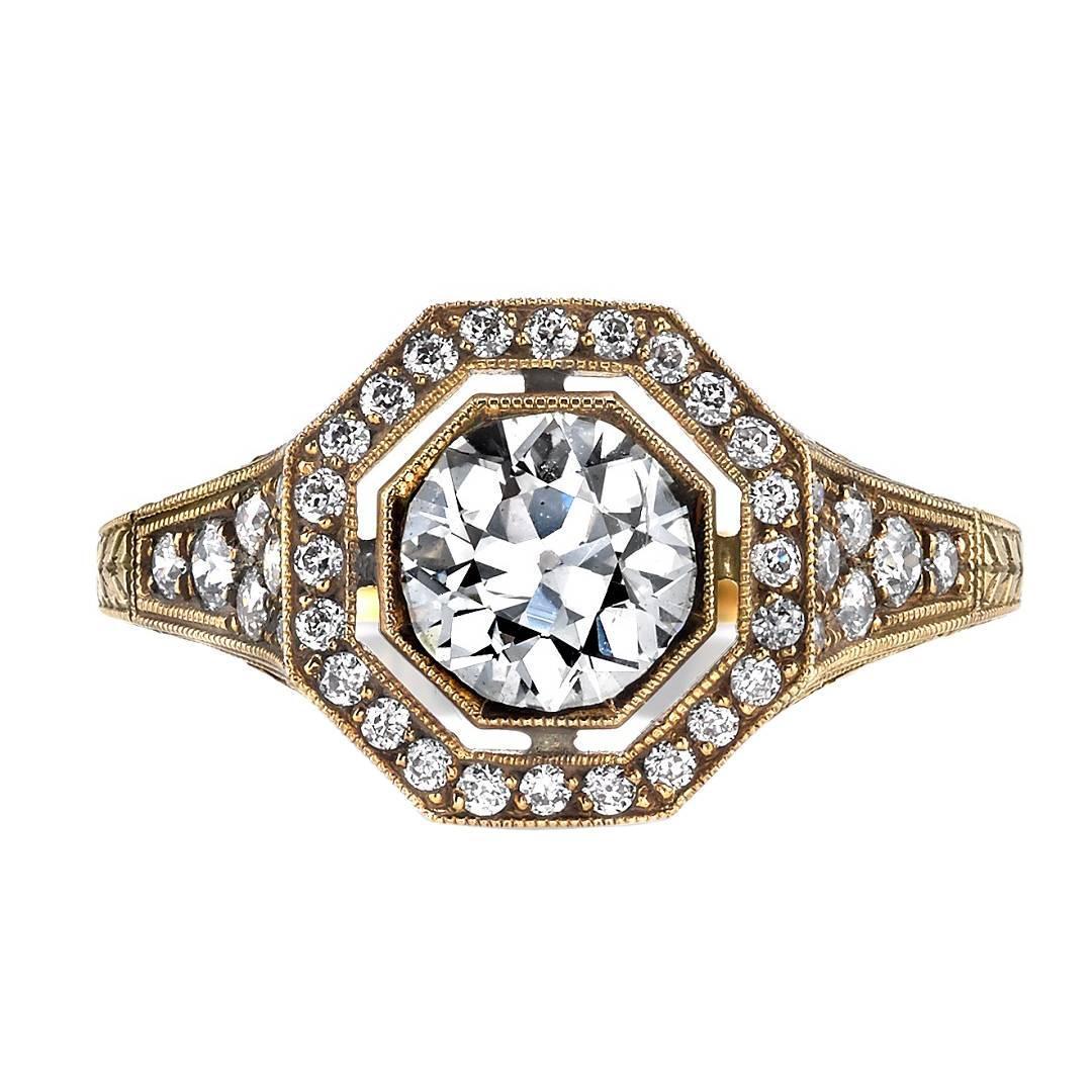 edwardian inspired gold engagement ring at 1stdibs