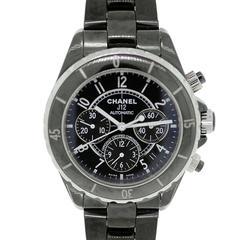 Chanel Ceramic Black Dial J12 Chronograph Automatic Wristwatch