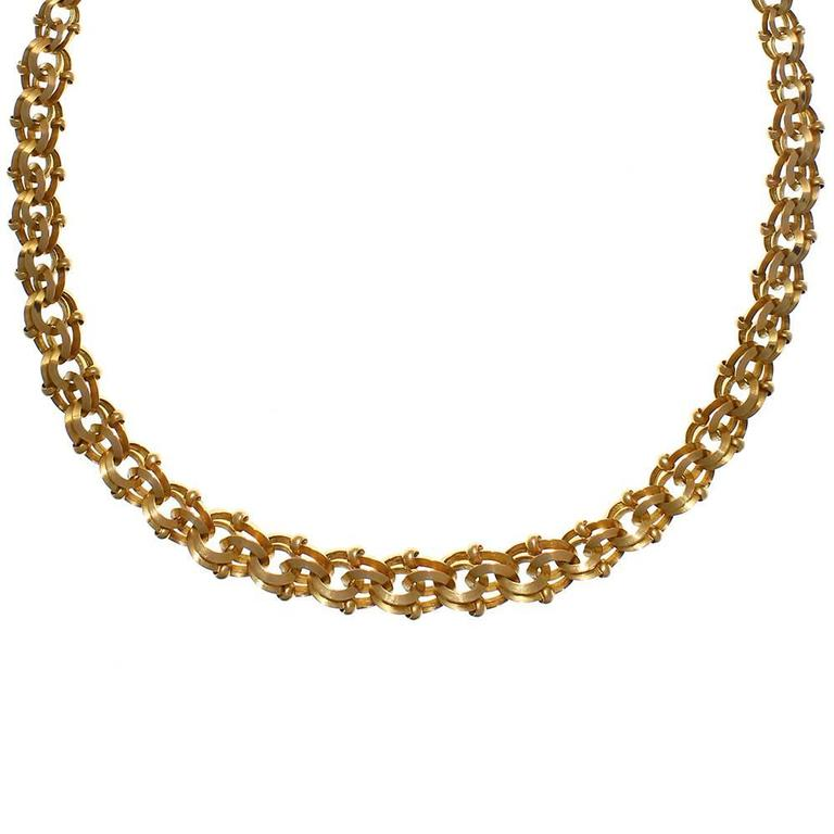 Gold Double Openwork Necklace