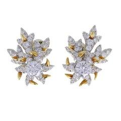 Schlumberger Diamond Gold Earclips