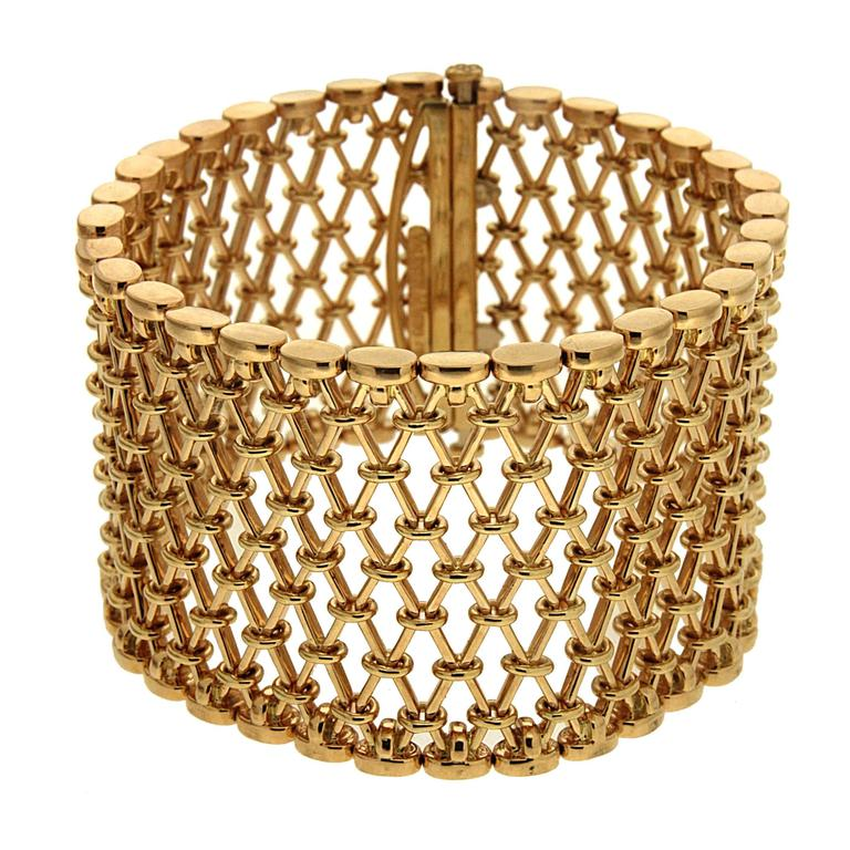 Valentin Magro Unique Gold Mesh Bracelet