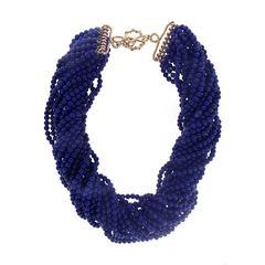 Multi Strands Lapis Necklace