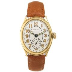 Hamilton Gold Filled Oval Wristwatch