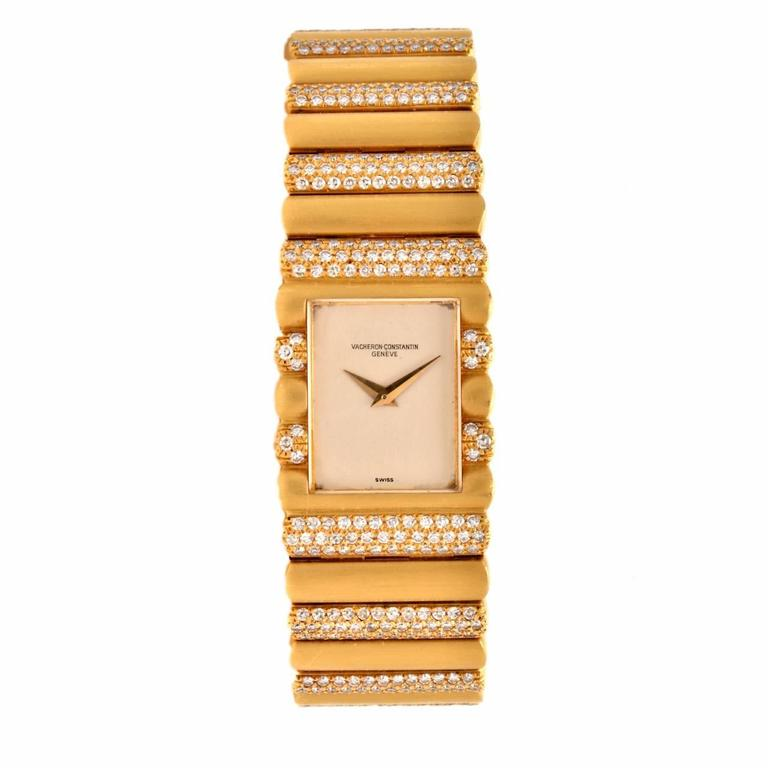 Vacheron Constantin Yellow Gold Diamond Wristwatch Ref 15006