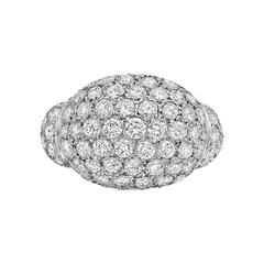 Diamond Platinum Domed Ring
