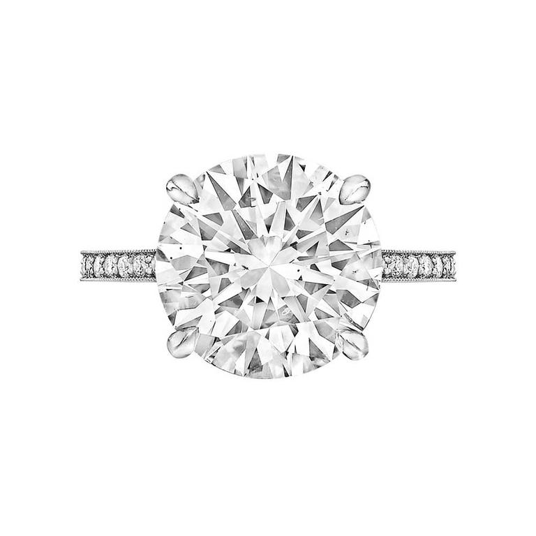 Betteridge 5.01 Carat Round Brilliant Diamond Platinum Engagement Ring